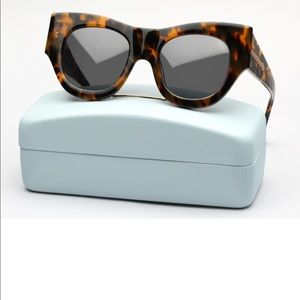 Karen Walker Faithful Crazy Tortoise Sunglasses